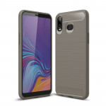 Brushed Texture Carbon Fiber TPU Case for Galaxy A6s (Grey)