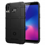 Shockproof Protector Cover Full Coverage Silicone Case for Samsung Galaxy A6s (Black)