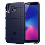 Shockproof Protector Cover Full Coverage Silicone Case for Samsung Galaxy A6s (Dark Blue)