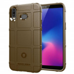 Shockproof Protector Cover Full Coverage Silicone Case for Samsung Galaxy A6s (Brown)