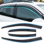 4 PCS Window Sunny Rain Visors Awnings Sunny Rain Guard for Ford Focus 2005-2011 Version Classic Style Hatchback