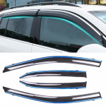 4 PCS Window Sunny Rain Visors Awnings Sunny Rain Guard for Toyota Camry 2018 Version Eighth Generation