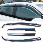 4 PCS Window Sunny Rain Visors Awnings Sunny Rain Guard for Honda Fit 2014-2018 Version Third Generation Hatchback