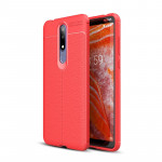Litchi Texture TPU Shockproof Case for Nokia 3.1Plus / X3 (Red)