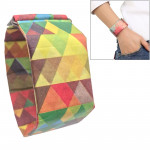 Multicolored Triangle Pattern Creative Fashion Waterproof Paper Watch Intelligent Paper Electronic Wristwatch DuPont Paper Watch