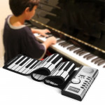 61 Keys Portable Flexible Roll Up Electronic Soft Keyboard Piano with Speakers