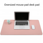 Multifunction Business PVC Leather Mouse Pad Keyboard Pad Table Mat Computer Desk Mat, Size: 60 x 30cm (Pink)