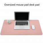 Multifunction Business PVC Leather Mouse Pad Keyboard Pad Table Mat Computer Desk Mat, Size: 80 x 40cm (Apricot)