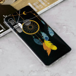 Luminous Feather Wind Chime Pattern Shockproof TPU Protective Case for Galaxy A9 (2018) / A9s