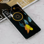 Luminous Feather Wind Chime Pattern Shockproof TPU Protective Case for Galaxy A7 (2018)