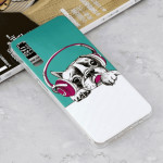 Luminous Headphone Puppy Pattern Shockproof TPU Protective Case for Galaxy A7 (2018)