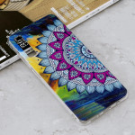 Luminous Colorful Sun Flower Pattern Shockproof TPU Protective Case for Galaxy A7 (2018)