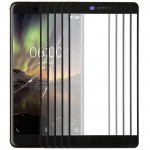 10 PCS Front Screen Outer Glass Lens for Nokia 6.1(Black)