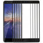 10 PCS Front Screen Outer Glass Lens for Nokia 3.1(Black)