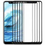 10 PCS Front Screen Outer Glass Lens for Nokia X5(Black)