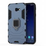 PC + TPU Shockproof Protective Case for Galaxy J4 Plus, with Magnetic Ring Holder (Gray)