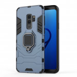 PC + TPU Shockproof Protective Case for Galaxy S9 Plus, with Magnetic Ring Holder (Gray)