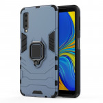 PC + TPU Shockproof Protective Case for Galaxy A7(2018), with Magnetic Ring Holder (Gray)