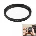Filtre UV appareil photo noir 43mm SLR Camera UV Filter - Wewoo