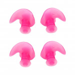 2 Pair Soft Ear Plugs Environmental Silicone Waterproof Dust-Proof Earplugs Diving Water Sports Swimming Accessories (Pink)
