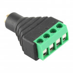 2.5mm Female Plug Terminal Block Stereo Audio Connector