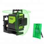 902CG 2×360° Laser Level Covering Walls and Floors 8 Line Green Beam IP54 Water / Dust proof (Green)