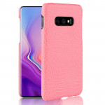 Shockproof Crocodile Texture PC + PU Case for Galaxy S10 Lite (Pink)