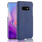 Shockproof Crocodile Texture PC + PU Case for Galaxy S10 Lite (Blue)