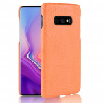Shockproof Crocodile Texture PC + PU Case for Galaxy S10 Lite (Yellow)