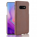 Shockproof Crocodile Texture PC + PU Case for Galaxy S10 Lite (Brown)