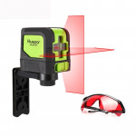 9011R 1V1H 20mW 2 Line Red Beam Laser Level Covering Walls and Floors (Red)