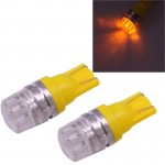 2 PCS T10 1.5W 60LM 1 LED Yellow COB LED Brake Light for Vehicles, DC12V(Yellow)
