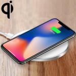 GY-68 Ultra-Thin Aluminum Alloy Wireless Fast Charging Qi Charger Pad(Silver)