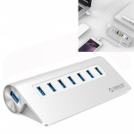 ORICO M3H7-V1 Aluminum Alloy 7 USB 3.0 Ports HUB with 30W Power Adapter