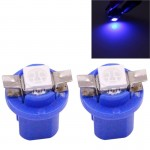 2 PCS B8.5 Blue Light 0.2W 12LM 1 LED SMD 5050 LED Instrument Light Bulb Dashboard Light for Vehicles, DC 12V(Blue)