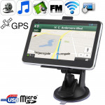 5.0 inch TFT Touch-screen Car GPS Navigator with 4GB memory and Map, Support AV In Port, Touch Pen, Voice Broadcast, FM Transmit