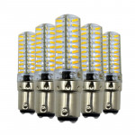5PCS YWXLight BA15D 5W 80LEDs SMD 4014 Energy Saving LED Silicone Lamp (Cold White)
