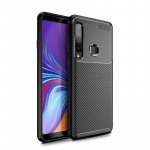 Carbon Fiber Texture Shockproof TPU Case for Galaxy A9s (Black)