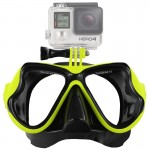 Water Sports Diving Equipment Diving Mask Swimming Glasses for GoPro HERO4 /3+ /3 /2 /1(Green)