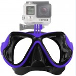 Water Sports Diving Equipment Diving Mask Swimming Glasses for GoPro HERO4 /3+ /3 /2 /1(Blue)
