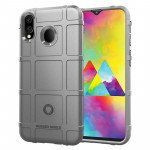 Shockproof Rugged Shield Full Coverage Protective Silicone Case for Galaxy M20 (Grey)