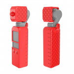 PULUZ 2 in 1 Diamond Texture Silicone Cover Case Set for DJI OSMO Pocket(Red)