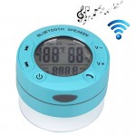 BTS-66 Waterproof Rechargeable Bluetooth Shower Speaker, Waterproof Level: IPX4, Support Temperature and Humidity Display(Blue)