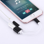 10cm 8 Pin Female & 3.5mm Audio Female to 8 Pin Male ChargerAdapter Cable for iPhone 7 & 7 Plus, iPhone 6s & 6s Plus, iPho