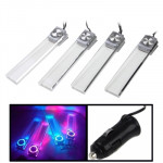 4X Car Illumination Blue Light LED Dash Decoration Lamp