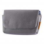 Rhombus Texture Nylon Camera Case Bag for Canon, Sony, Nikon, Micro Single,Digital Cameras, Size:12.5×7.5×4cm (Grey)