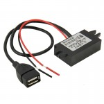 12V To 5V USB Car Power Charger Adapter Step Down Module DC-DC Converter for GPS / Vehicle Recorder
