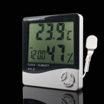 3.8 inch LCD Digital Temperature & Humidity Meter with Clock / Calendar (HTC-2)