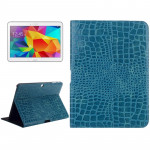 Crocodile Texture Leather Case with Holder for Samsung Galaxy Tab 4 10.1 / SM-T530 (Blue)
