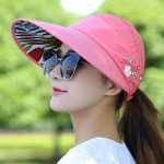 Women Summer Casual Going Out Ultraviolet-proof Korean Style Folded Sun Block Hat Breathable And Light(Purple)